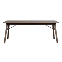 RO Grah Extending Dining Table Brown