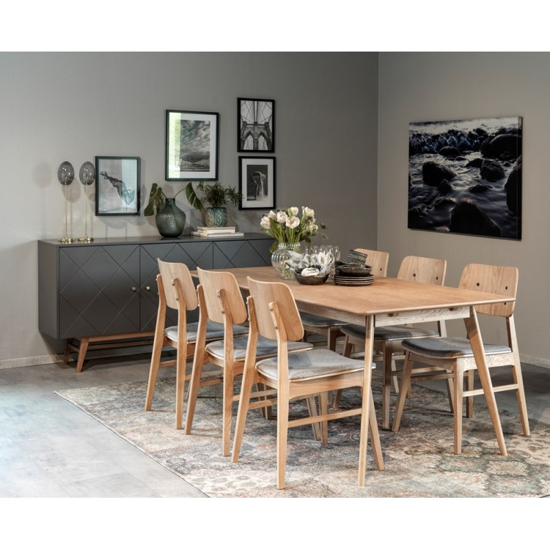 RO Naga Dining Chair Oak
