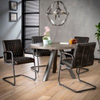 ZI DINING TABLE Ø120 SOLID TRIPOD
