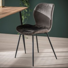 ZI  ARIA CHAIR VELVET ROUND TUBE