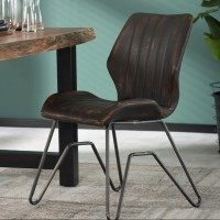 ZI CHAIR VINTAGE  WASHED PU W-FRAME