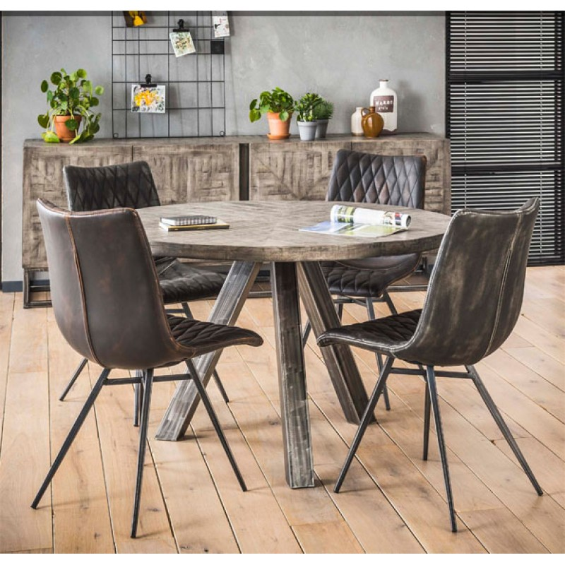 ZI 2019 Grando Round Industrial Dining Table 120