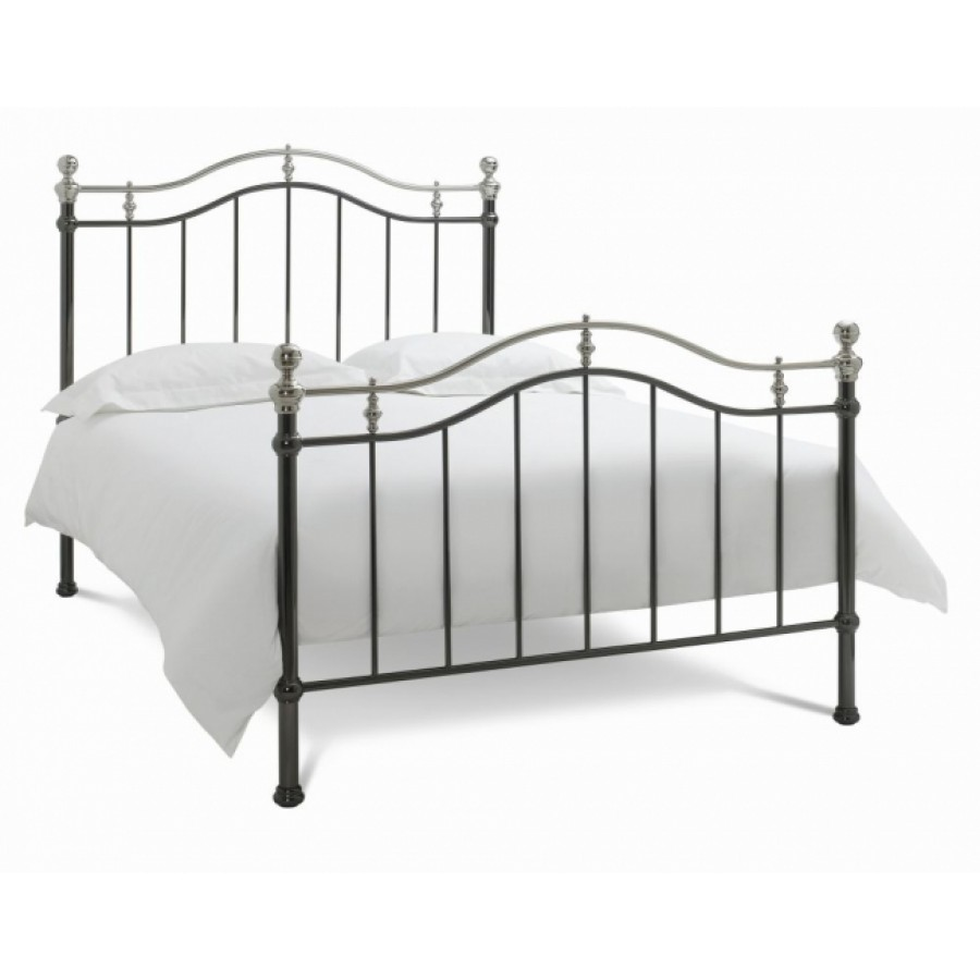bd chloe black shiny nickel bedstead. Black Bedroom Furniture Sets. Home Design Ideas