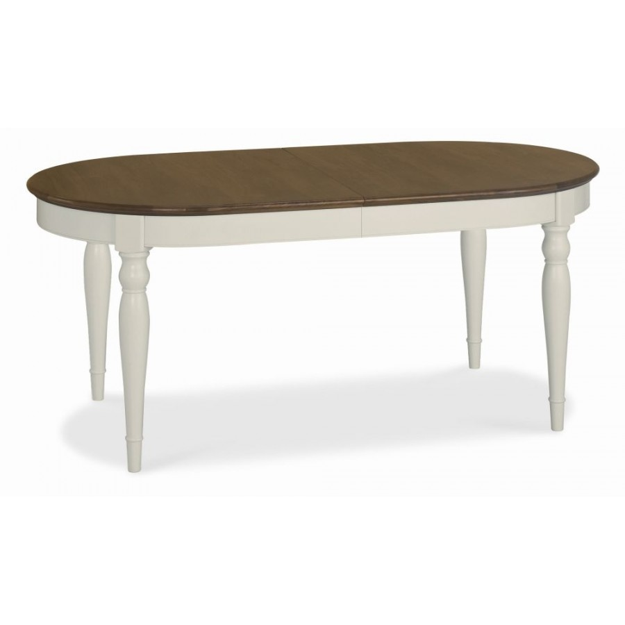 Bd runstead soft grey and walnut 6 8 extension dining table for Extension dining table