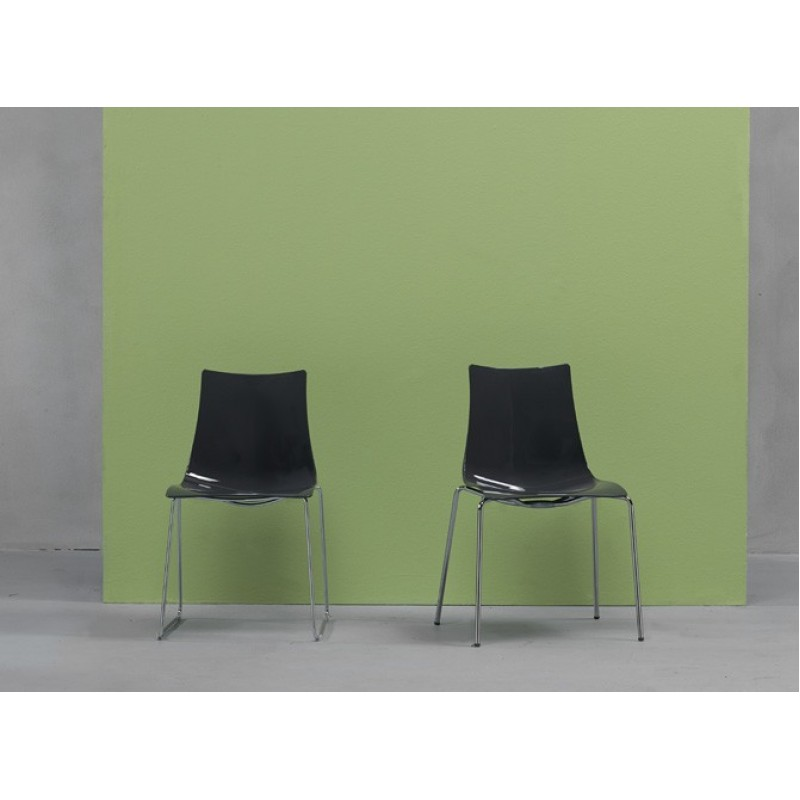 SC Zebra Italy Antishock Chair with 4 legs Transparent Smoked Grey