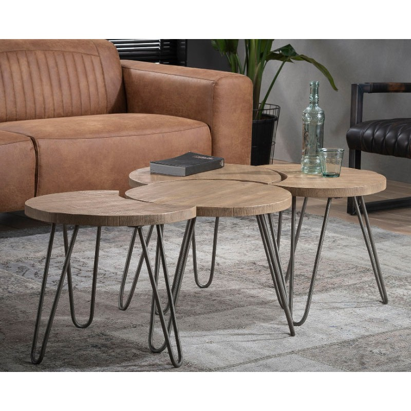 Zi Circle Circo Solid Coffee table set/4 Ø50