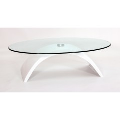 H23 Arc White Gloss Coffee table