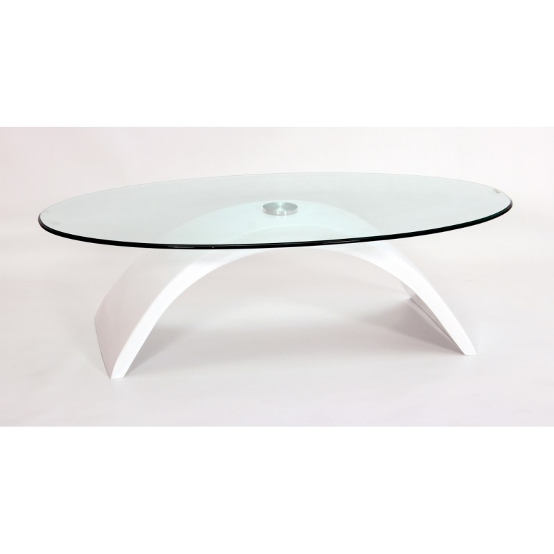 H23 Arc White Gloss Coffee table
