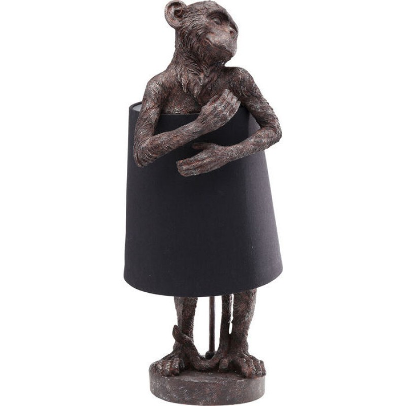 Table Lamp Animal Monkey Brown Black