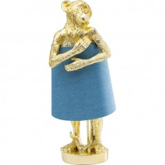Table Lamp Animal Monkey Gold Blue
