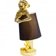 Table Lamp Animal Monkey Gold Black