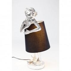 Table Lamp Animal Monkey Silver Black