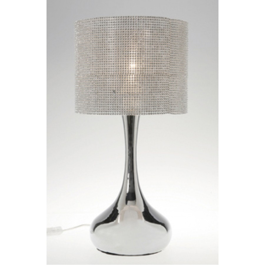 Table lamps table lamp glamour drop chrome geotapseo Choice Image