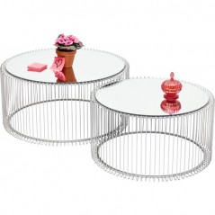 Coffee Table Wire Silver