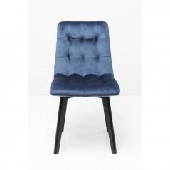 Chair Black Moritz Velvet Blau
