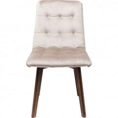 Chair Moritz Velvet Silbergrey