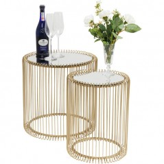 Side Table Wire Brass Ø44cm