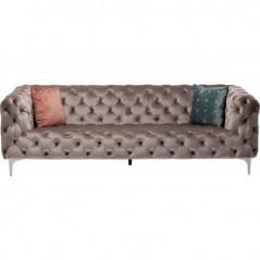 Sofa Look 230cm Velvet Grey