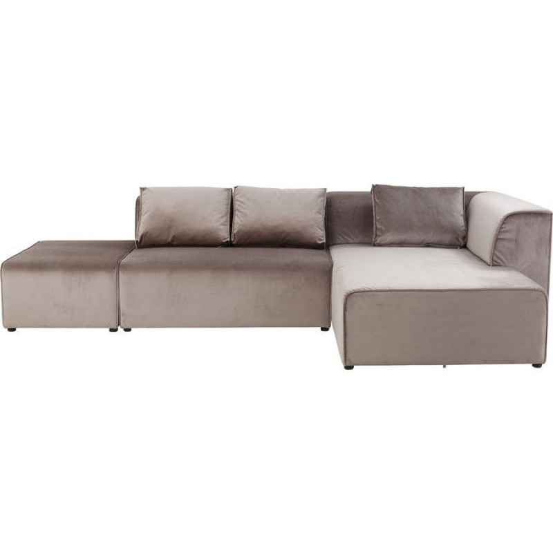 Sofa Infinity Velvet Taupe Right