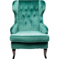Wing Arm Chair Vintage Green