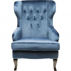 Wing Arm Chair Vintage Blue