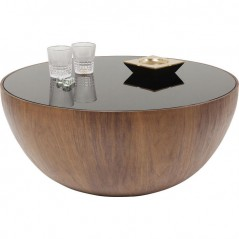 Coffee Table Tear Drops Walnut Ø80cm