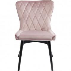 Chair Black Marshall Velvet Mauve
