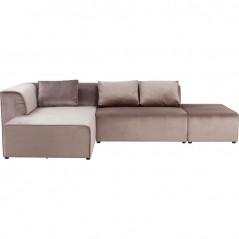 Sofa Infinity Velvet Taupe Left