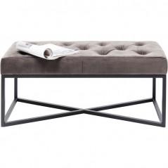 Bench Crossover Grey Black 90x40cm