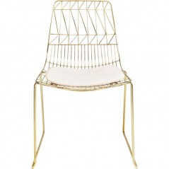 Chair Solo Creme Gold