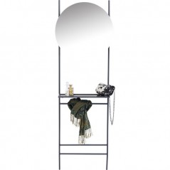 Coat Rack With Mirror Moon