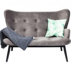 Sofa Black Vicky Velvet Grey