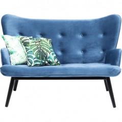 Sofa Black Vicky Velvet Bluegreen