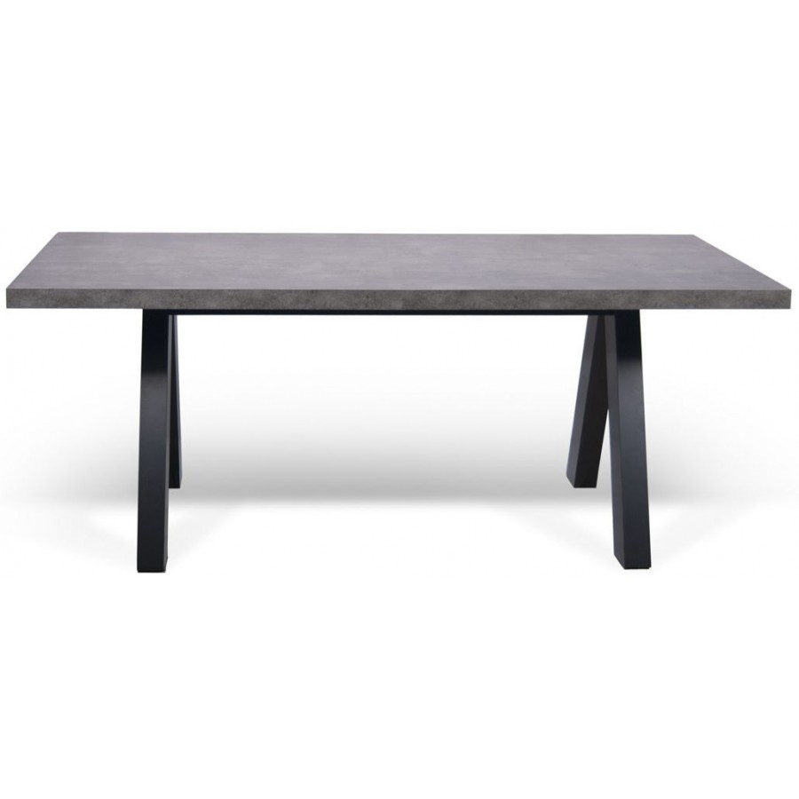 Apex concrete dining table Table rectangulaire avec rallonge