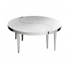Allure Coffee Table Ying Yang Round Silver