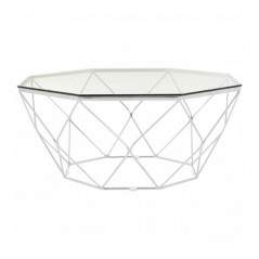Allure Coffee Table Geometry Diamond Silver