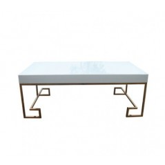 Allure Coffee Table Cubic Rectangular Rose Gold