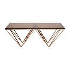 Alais Coffee Table Double Triangle Gold