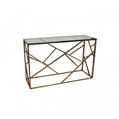Davis Console Table Branches Rectangular Rose Gold