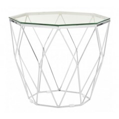Allure End Table Geometry Diamond Clear