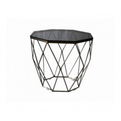 Allure End Table Geometry Diamond Grey