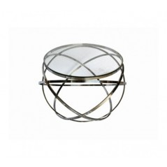 Allure End Table Hoops Round Silver