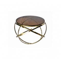 Allure End Table Hoops Round Gold