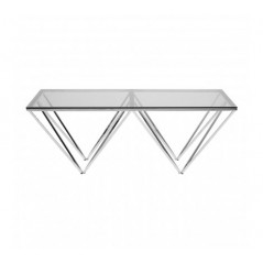 Allure Coffee Table Double Triangle Clear