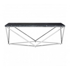 Allure Coffee Table Geometry V Rectangular Silver