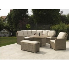 DE Atnalta Outdoor Set with Lavastone Table + Cushion