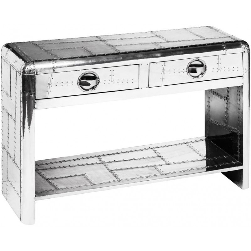 Aviator Console Table 2 Drawers