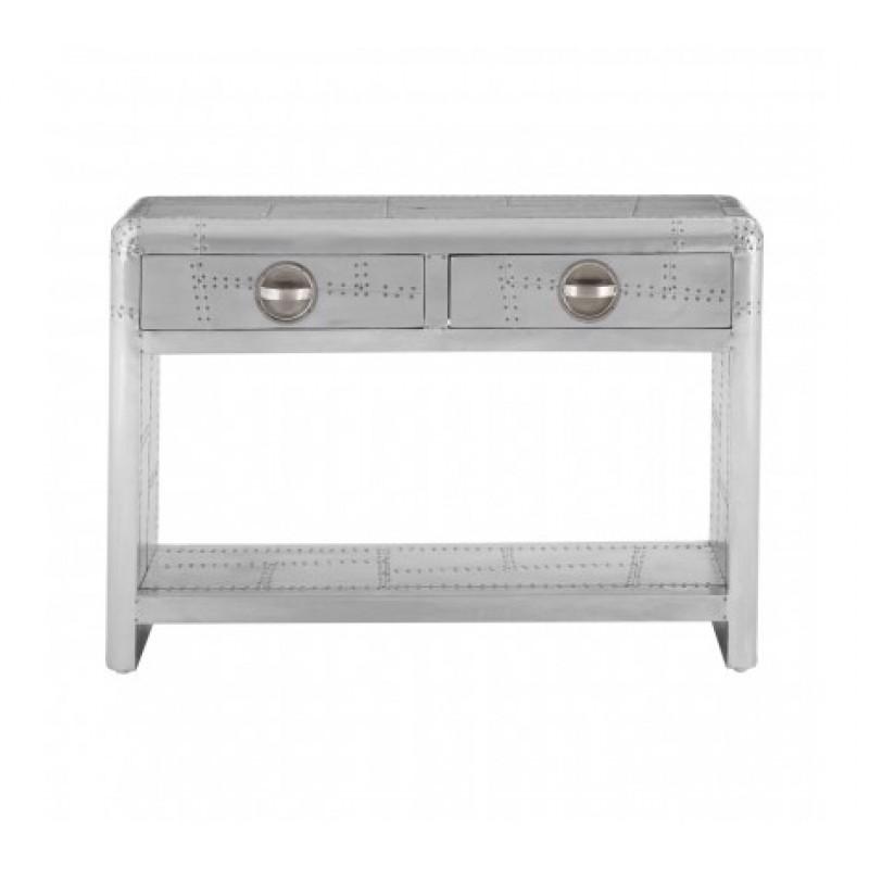 Avro Console Table Bulky Silver