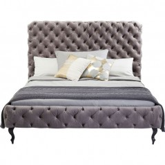 Bed Desire High Silver Grey 180x200 cm
