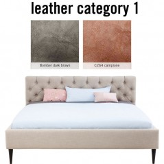 Bed Nova Individual 160x200cm Leather 1
